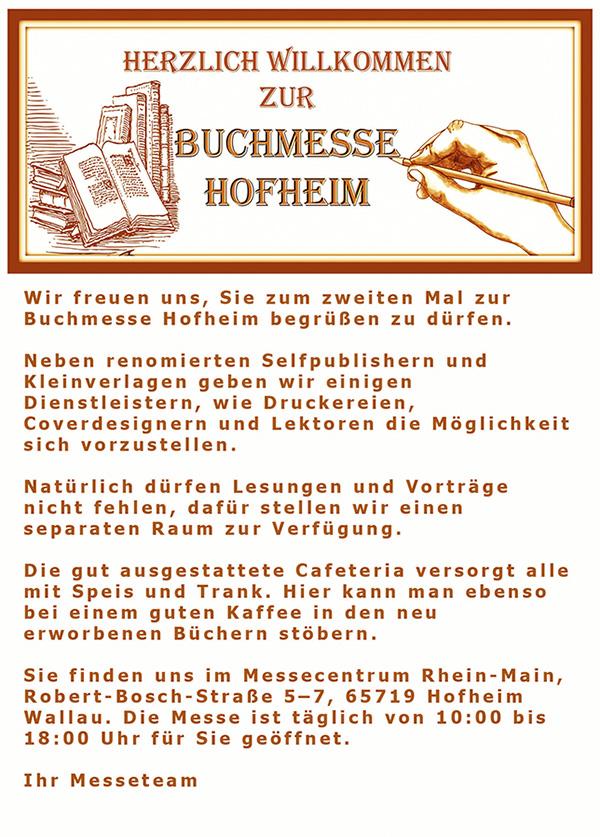 Flyer der Buchmesse Hofheim 2018 - Rueckseite
