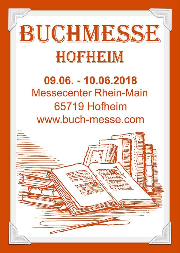 Flyer der Buchmesse Hofheim 2018 - Vorderseite