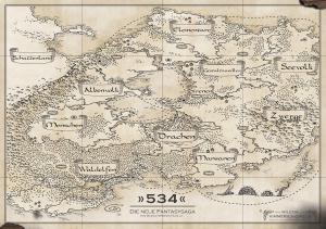 Landkarte im Posterformat A2 der Fantasysaga 534