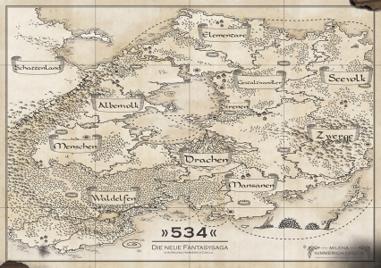 Poster DIN A2 - Motiv: Landkarte